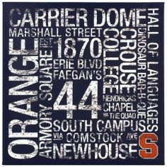 College Subway Canvas Wall Art Syracuse Colleges Subway Art