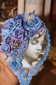 Creative Imagination by Norma G: Altered Dollar Store Hand Mirror (FInnabair/Angela...