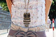 bijoux hibou, hiboux  chouette animal bague chaîne collier