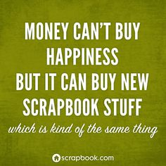 Money can't buy happiness........