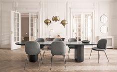 moon elliptical dining table