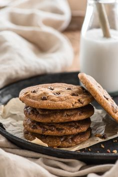 33 Trendy Chocolate Chip Cookies No Eggs Products Dairy Free Chocolate Chips, Healthy Chocolate Chip Cookies, Healthy Cookies, Vegetarian Chocolate, Yummy Cookies, Healthy Snacks, Cookies Soft, Chicken And Shrimp Recipes, Recipe Using
