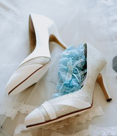 Wedding photography of a brides gorgeous yet simple pair of white heeled shoes with glitter on them White Wedding Shoes, White Heels, Wedding Photography, Photography Ideas, Brides, Teal, Wedding Inspiration, Shoes Heels, Glitter
