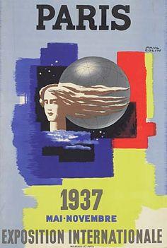 Exposition internationale de Paris - 1937 - illustration de Paul Colin -