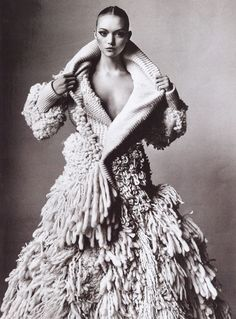 Gemma Ward wearing Balenciaga | Photography by Irving Penn | For Vogue Magazine US | March 2006
