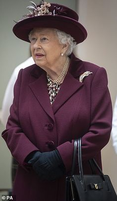 The Queen is elegant in a plum ensemble as she leaves HQ Jennifer Lopez Photos, Elisabeth Ii, Jacqueline Kennedy Onassis, London Today, Her Majesty The Queen, English Royalty, Prince Phillip, British Monarchy, Save The Queen