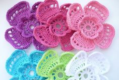 4 Petal Flower Crochet Pattern. More Patterns Like This!