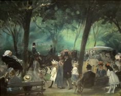 The Drive, Central Park by William Blackens, 1905.