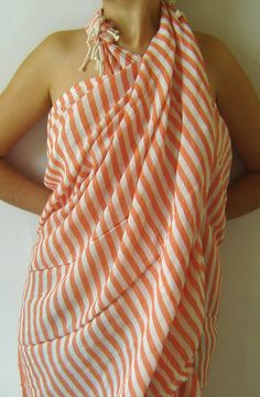 Items similar to Turkish Bath Towel: Peshtemal, Light and Thin Bath, Beach, Spa Towel, Coral Color on Etsy Turkish Bath Towels, Spa Towels, Beach Towel, Beautiful Outfits, Clothes For Women, Trending Outfits, My Style, Stylish, How To Wear