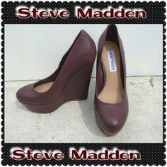 NEW! STEVE MADDEN MAROON WEDGES We love OFFERS. Steve Madden Shoes