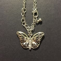 For Sale: H&M 🌈erfly Necklace (NEW) for $5