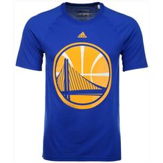 adidas Men's Golden State Warriors Huge Preferred Climalite T-Shirt ($23) ❤ liked on Polyvore featuring men's fashion, men's clothing, men's shirts, men's t-shirts, blue, adidas mens shirts, adidas mens t shirt, mens holiday shirts, mens t shirts and mens blue t shirt