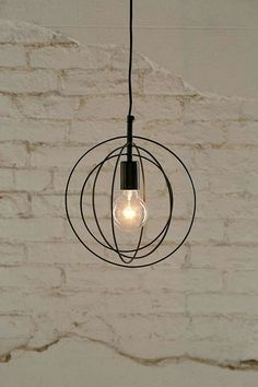 Urban outfitters Edison bulb plug in lamp
