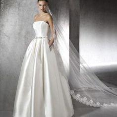 BRUDEKJOLER One Shoulder Wedding Dress, Wedding Dresses, Fashion, Bride Dresses, Moda, Bridal Gowns, Fashion Styles, Wedding Dressses