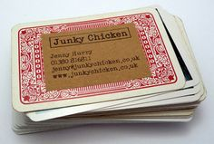 Repurposed #playing card #business card-DON'T get LOST in the shuffle!  Be ORIGINAL if you're going to carry a paper #biz card!