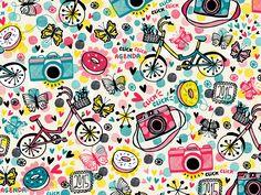 Mek Frinchaboy illustrations & pattern design for journals