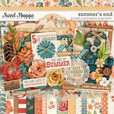 Summer's End Digital Scrapbooking Kit by Kristin Cronin-Barrow & Zoe Pearn http://www.sweetshoppedesigns.com/sweetshoppe/product.php?productid=23902 $8.99