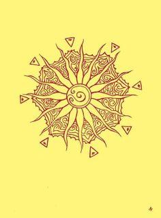 sun tattoo... back of neck