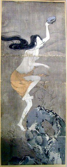 Abalone diver by Hokusai