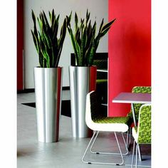 Primus Brushed Stainless Steel Planters
