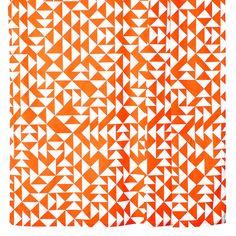Shower Curtain Orange