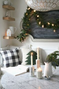 How to Create a Very Merry Hygge Christmas - Nesting With Grace christmas living rooms How to Create a Very Merry Hygge Christmas - Nesting With Grace Christmas Abbott, Black Christmas Trees, Christmas Greenery, Rustic Christmas, Simple Christmas, Hygge Christmas, Christmas Home, Christmas Gifts, Xmas
