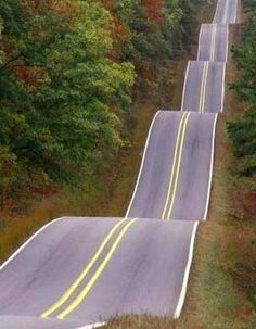 Roller Coaster Road on NS 366 by Wewoka, Ok. I would absolutely LOVE to drive this road!!!!