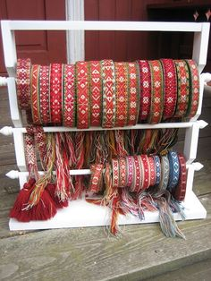 Spectacular array of hand woven bunad belts, Norway Inkle Weaving, Inkle Loom, Card Weaving, Tablet Weaving, Lucet, Scandinavian Folk Art, Scandinavian Christmas, Folklore, Textiles