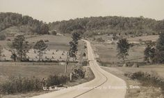JOHNSON CITY, tennessee  POSTCARD--OF between Johnson City and Kingsport, Tennessee (undated postcard