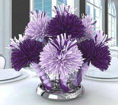 Purple Bridal Shower Decorations | ... Unique Shower Centerpieces and Decorations for your Shower Celebration