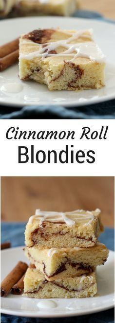 Cinnamon Roll Blondies   Cinnamon Swirled Blondies   easy bar recipe   Cinnamon Blondie Brownies   Snickerdoodle bars