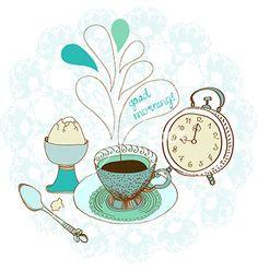 Vintage color morning tea background vector 2172151 - by Elmiko on VectorStock®