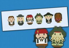 Pirates of the Caribbean: At World's End chibi - PDF pattern by cloudsfactory