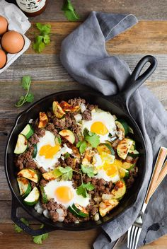 15 minute zucchini beef skillet