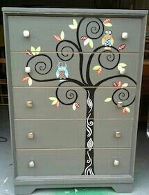Delicieux Whimsy Furniture   Unique, Hand Painted Furniture JB Iu0027d Love To Have  Something Like This In My Craft Room.