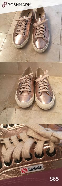 Women's Superga sneakers Brand new, never worn  Very stylish  Color- Rose gold  Can be worn casual or dressy Superga Shoes Sneakers