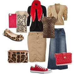 Animal Print and Beige Outfits! Love them!