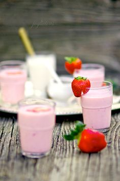 Strawberry Lassi!  My son loves the mango ones... will have to try!