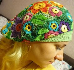 I am thinking how pretty this would be for a chemo cap!  Should keep the wearer feeling beautiful!