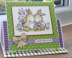 Cute Card Thursday + Papertake Weekly + Lili Of The Valley Art Pad, Happy Easter Everyone, Cute Squirrel, Wedding Anniversary Cards, Easel Cards, Bird Cards, Lily Of The Valley, Lent, Cute Cards