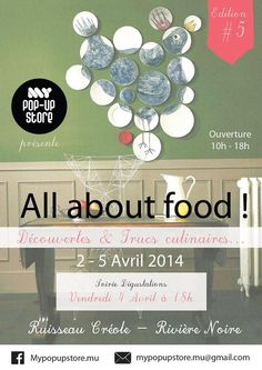 ALL ABOUT FOOD flyer ! My Pop Up Store #7
