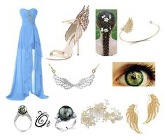 """""""The Goddess of Prom"""" by prettyflyforwifi ❤ liked on Polyvore featuring Sophia Webster, Mallarino, RTR Bridal Accessories, mizuki and PossibleDaughterOfAphrodite"""