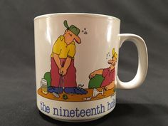 Jim Benton Coffee Cup Mug by Papel The Nineteenth Hole Golf Gift Idea #Papel