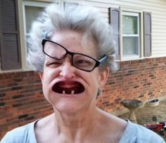 Grandma Inhales the Leaf Blower -- best funny pictures walmart humor fail jokes