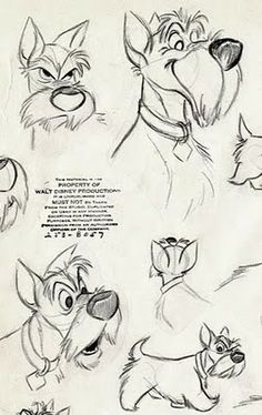 Living Lines Library: Lady and the Tramp (1955) - Character Design > Model Sheets & Production Drawings