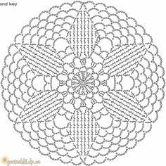 Motivi per uncinetto unit circle crochet pattern Crochet Doily Rug, Crochet Dollies, Crochet Circles, Crochet Doily Patterns, Crochet Round, Crochet Chart, Crochet Squares, Crochet Home, Thread Crochet