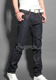 Pantalones vaqueros delgados de moda para hombres http://www.myefox.es/pantalones-vaqueros-delgados-de-moda-para-hombres-p-1226211 http://www.myefox.es