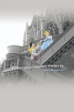 Actually the glass slipper only fits Cinderella because she has an extremely small foot and I'm pretty sure she could be in France and not Disney and the shoe would still fit