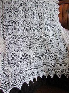 beautiful lace shawl