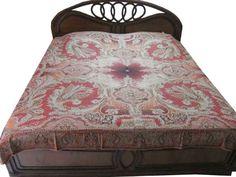 Amazon.com - Pashmina Cashmere Bedding Bedspreads Burnt Red Blanket Sofa Throw